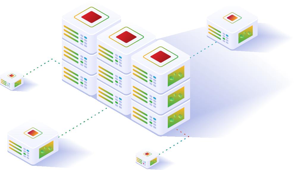 illustration of backing up data to servers